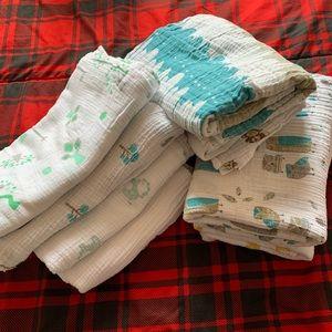 Aden + Anais Cotton Muslin Swaddle Blanket 8 Piece